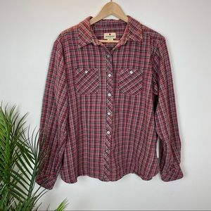 WOOLRICH Cotton Flannel Button Down Shirt